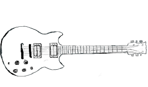 guitar sketch yamaha sg 200 by queenofthedamned96 on deviantart
