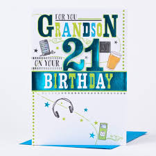 21st birthday card for you grandson only 1 49