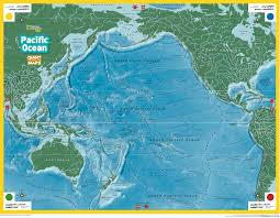 Blank Pacific Map by Giant Traveling Maps Pacific New Ocean Map Roundtripticket Me