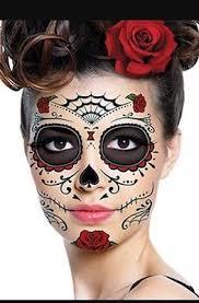 3 day of the dead dia de los muertos face tattoos skull halloween