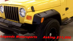 2000 jeep wrangler sale 2000 jeep wrangler tj yellow sport 4 0 liter 5 speed manual for