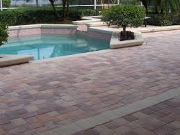 Brick Patio Pavers by Pool Patio Pavers
