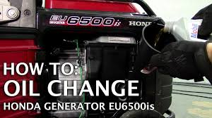 honda generator eu6500is oil change youtube