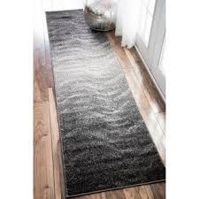Plastic Runner Rug Nuloom Contemporary Ombre Waves Grey Runner Rug 2 5 X 9 5 Grey