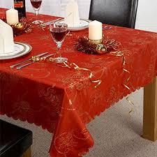 christmas tablecloths amazon co uk