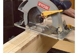use circular saw as table saw cut big time joints with a small time saw