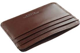 leather credit card holder sles business
