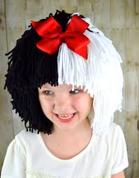 wigs for halloween cruella deville wig halloween costume for girls black and