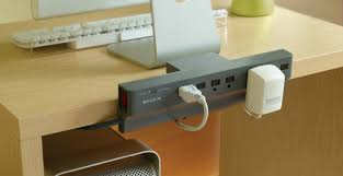 Hide Desk Cables Belkin U0027s Fancy Surge Protectors Hide Your Cable Shame Techcrunch