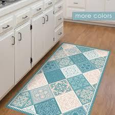 Turquoise Kitchen Rugs Turquoise Kitchen Rugs Design Vinyl Floor Mat Kitchen Mat With