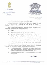 appointment letter sample for board meeting request chairman