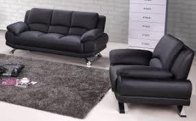 Real Leather Sofa Set by Black Genuine Leather Sofa Set With Tufted Pillows Atlanta Georgia