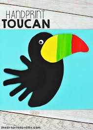 handprint toucan craft for kids i heart arts n crafts
