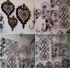 Decorative Wrought Iron Rosettes Panels For Fence Gate Stair View