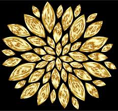 gold flowers gold flower petals variation 2 with background icons png free