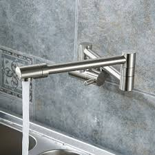 double joint wall mounted stainless steel kitchen sink faucet