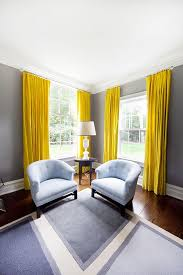 Should Curtains Go To The Floor Decorating Way To Brighten Up A Room With Yellow Curtains