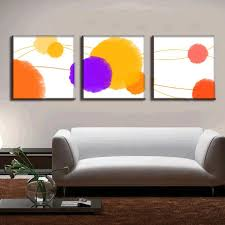 3 pcs set abstract canvas wall art canvas painting 3 pieces the colorful paint stains