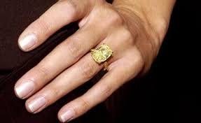 fancy yellow diamond engagement rings engagement ring heidi klum ringspotters
