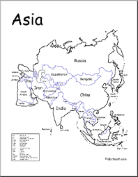 printable map of asia with countries and capitals printable map of asia with countries and capitals major