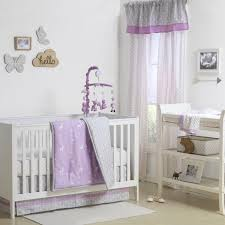 Deer Crib Sheets Hello Deer Crib Starter Set In Purple U0026 Grey