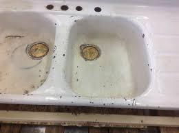 Reporcelain Refinish Steel Sinks Stoves And Other Vintage Parts - Enamel kitchen sink
