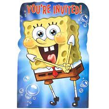 spongebob invitations birthdayexpress com