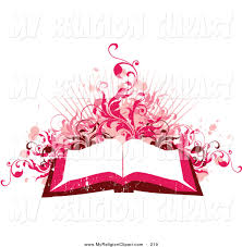 religion clip art pink red toned background open