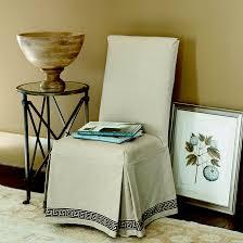Linen Chair Slipcover Parsons Slipcover Greek Key Ballard Designs