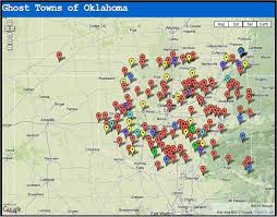Map Of Oklahoma State by Ghost Towns Of Oklahoma Pinning To Look At On Computer Can U0027t See