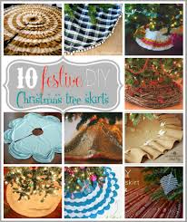 10 festive diy christmas tree skirts tipsaholic