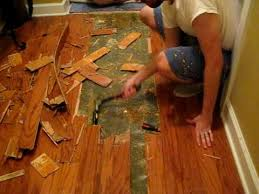 removing wood floor part 1