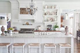 White Shaker Style Kitchen Cabinets White Kitchen Wood Paneling Design Ideas