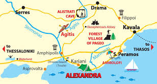 Thessaloniki Greece Map by