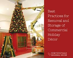 best practices for removal and storage of commercial decor