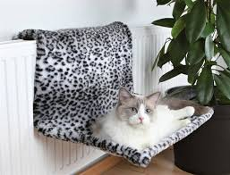 Trixie Cat Hammock by Trixie Radiator Bed Plush Snow Leopard Pattern 58x30x38cm