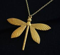 wedding gift jewelry dragonfly gold necklace bridal necklace wedding gift 18k gold