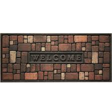Rubber Home Depot by Apache Mills Rock Wall 21 In X 48 In Recycled Rubber Door Mat 60