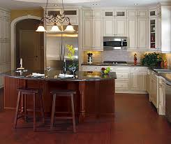 painted maple cabinets with cherry kitchen island kitchen craft