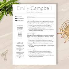 resume samples in word resume template cv template for word pages no 003 modern resume template cv template for word pages no 003
