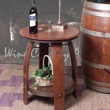 Barrel Side Table Wine Barrel End Table 819 2 Day Designs Wine Barrel Furniture
