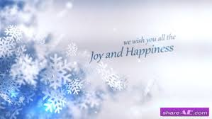 snowflake free after effects templates after effects intro