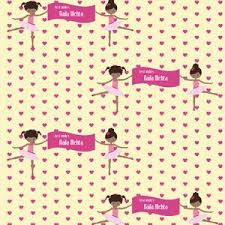 ballerina wrapping paper personalised wrapping paper ballerina label shabel labelshabel