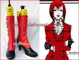 Butler Halloween Costume Black Butler Cosplay Madame Red Baroness Angelina Dalles Burnett Boots