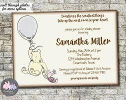 winnie pooh baby shower invitation printable