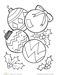 ornaments coloring page worksheets ornament