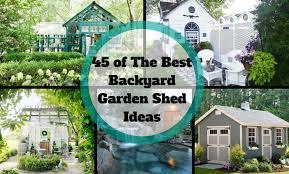 garden area ideas of the best backyard garden shed ideas