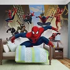 Spiderman Wallpaper For Bedroom Spiderman Wall Mural Ebay