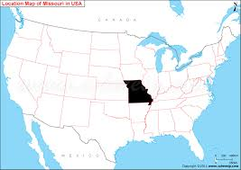 detailed map of usa and canada where is missouri state where is missouri located in the us map