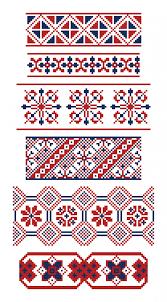 different borders of russian ornaments vector premium